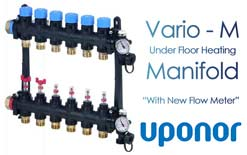 Upnor Vario M UFH Manifold (With New Flow Meter)